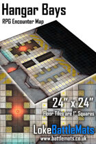 "Hangar Bays 24"" x 24"" RPG Encounter Map"