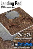 "Landing pad 24"" x 24"" RPG Encounter Map"