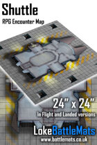 "Shuttle 24"" x 24"" RPG Encounter Map"