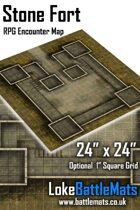 "Stone Fort 24"" x 24"" RPG Encounter Map"