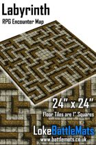 "Labyrinth 24"" x 24"" RPG Encounter Map"