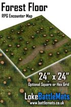 "Forest Floor 24"" x 24"" RPG Encounter Map"