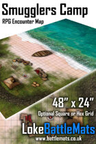 "Smugglers Camp 48"" x 24"" RPG Encounter Map"