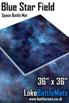Blue Star Field- 3'x3' Space Battle Mat