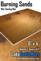 Burning Sands - 6'x4' War Gaming Mat