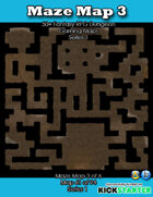 50+ Fantasy RPG Maps 1: (61 of 95) Maze Map 3