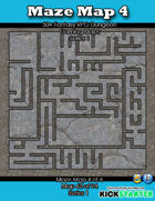 50+ Fantasy RPG Maps 1: (62 of 95) Maze Map 4