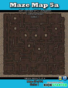 50+ Fantasy RPG Maps 1: (63 of 95) Maze Map 5a
