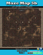50+ Fantasy RPG Maps 1: (64 of 95) Maze Map 5b