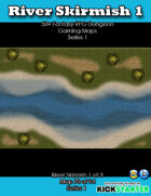 50+ Fantasy RPG Maps 1: (70 of 95) River Skirmish 1