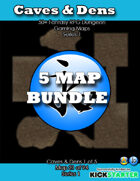 50+ Fantasy RPG Maps 1 Bundle 14: Cave & Dens Bundle [BUNDLE]