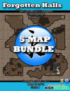 50+ Fantasy RPG Maps 1 Bundle 13: Forgotten Halls Bundle [BUNDLE]