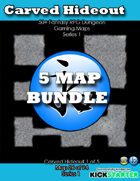 50+ Fantasy RPG Maps 1 Bundle 11: Carved Hideout [BUNDLE]