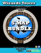 50+ Fantasy RPG Maps 1 Bundle 06: Wizard's Tower Bundle [BUNDLE]