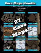 50+ Fantasy RPG Maps 1 Bundle 17: Cave Maps Bundle [BUNDLE]