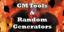 GM Tools & Random Generators