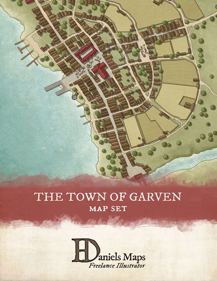 The Town of Garven - Town Map