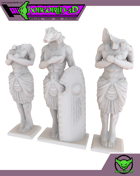 HG3D Egyptian Weathered Statues