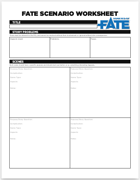 Fate Scenario Worksheet