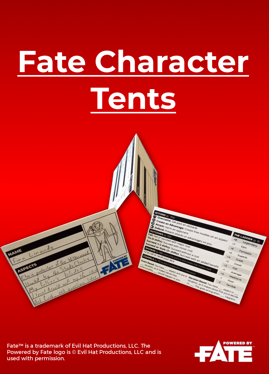 Fate Character Tents. Fullu2011size Preview  sc 1 st  DriveThruRPG & Fate Character Tents - Nathan Hare | DriveThruRPG.com
