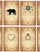 Ancient Lenormand 36 Card deck with numbers and English text