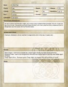 Helheim Unbound: Sample Champion Sheets