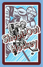 Shoot-Out Hockey Fast Action Deck EMBOSSED STOCK Color Backs