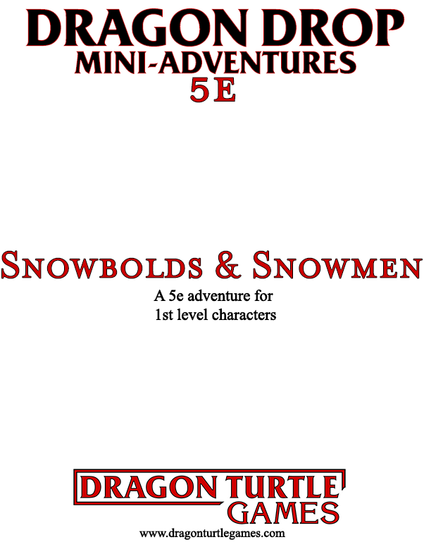 Cover of Snowbolds & Snowmen