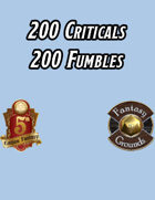 200 CRITICAL & FUMBLE Tables (5E)