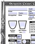 AutoFill Dungeon Crawl Classics Character Sheets (DCC)