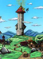 Fantasy Location: Mage Tower (color version)