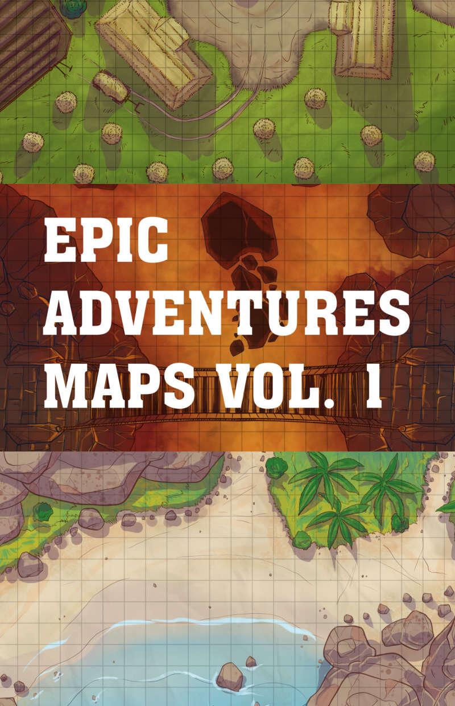 Epic Adventures Maps Vol. 1 - Magic Vacuum Design Studio   DriveThruRPG.com