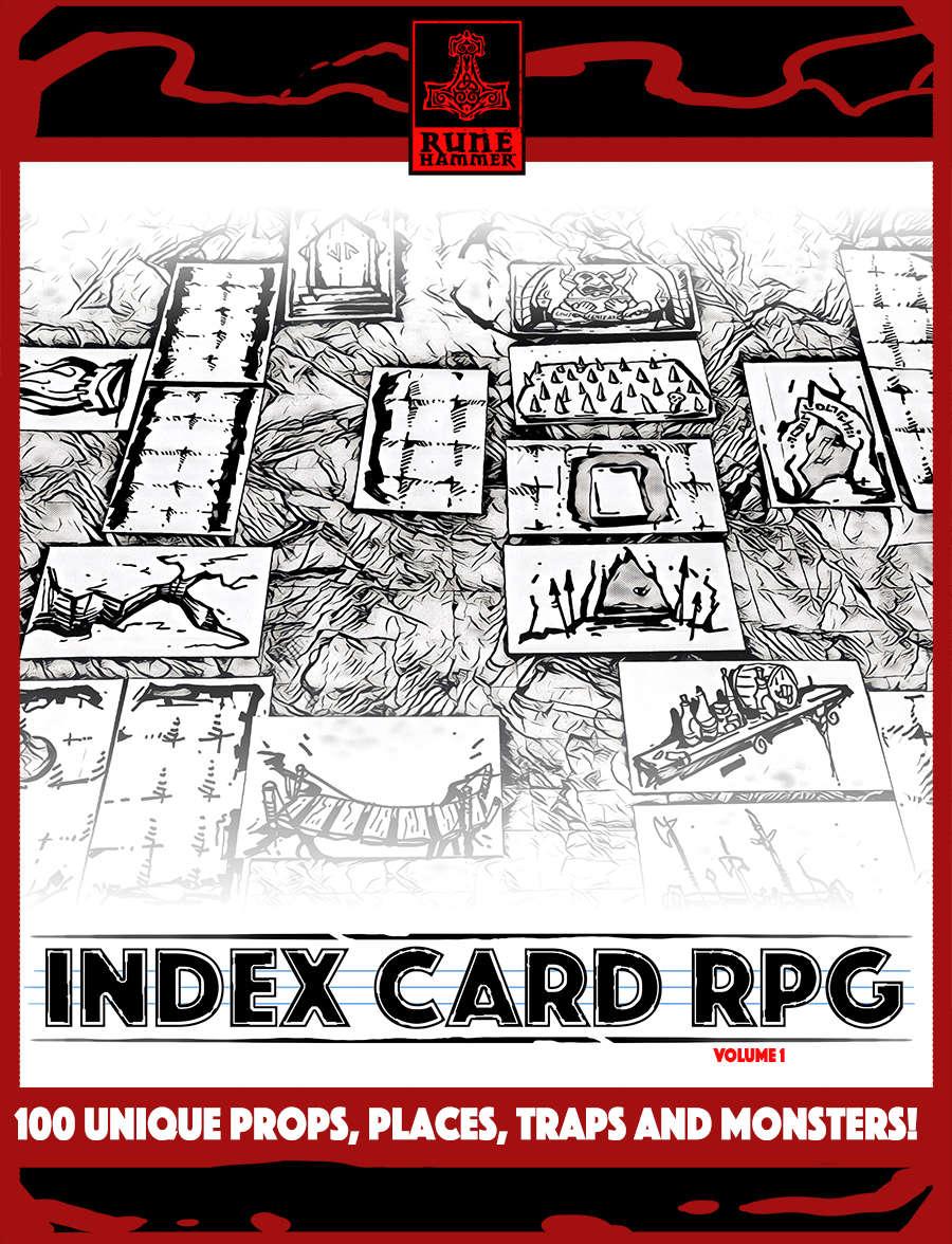 INDEX CARD RPG Vol  1 - RUNEHAMMER GAMES | Dungeon Masters Guild