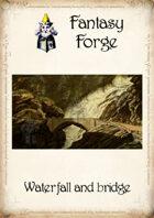 Waterfall and bridge