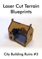 Laser Cut Terrain Blueprint - City Building Ruins #3