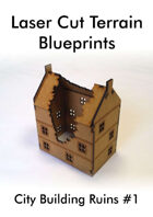 Laser Cut Terrain Blueprint - City Building Ruins #1