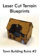 Laser Cut Terrain Blueprint - Town Building Ruins #2