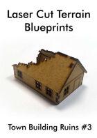 Laser Cut Terrain Blueprint - Town Building Ruins #3