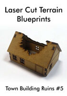 Laser Cut Terrain Blueprint - Town Building Ruins #5