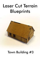 Laser Cut Terrain Blueprint - Town Building #3