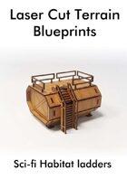 Laser Cut Terrain Blueprint - Sci-fi Habitat - ladders