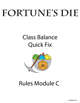 Fortune's Die - Classes Quick Fix