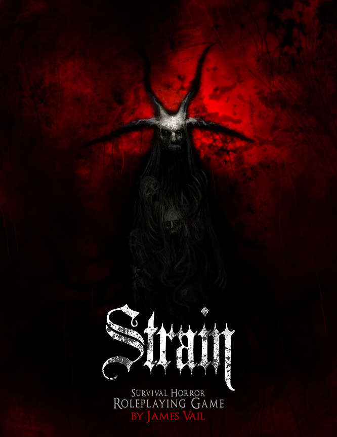 Strain cover depicting a demonic character wreathed in shadow.