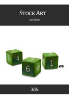Stock Art: Dice, 3d6
