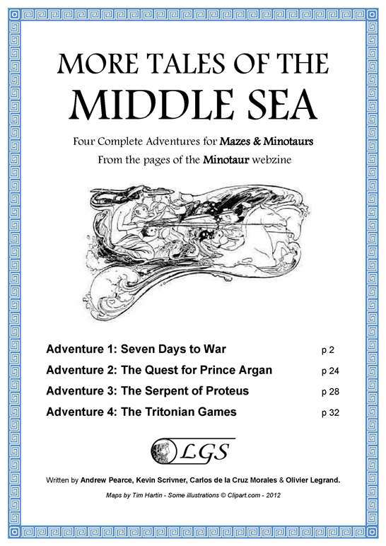 More Tales of the Middle Sea (Mazes & Minotaurs) - Legrand Games