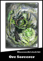 BlaszczecArt Stock Art: Orc Sorcerer