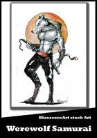 BlaszczecArt Stock Art: Werewolf Samurai