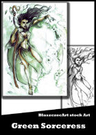 BlaszczecArt Stock Art: Green Sorceress
