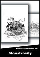 BlaszczecArt Stock Art: Monstrosity B&W
