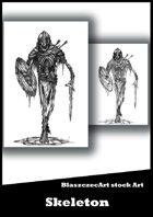 BlaszczecArt Stock Art: Skeleton B&W
